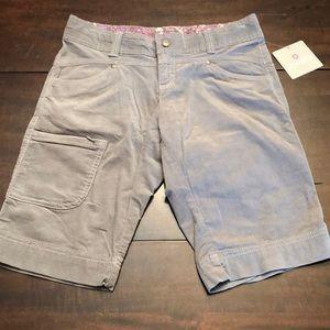 Athleta light grey  corduroy shorts.   Size 2. New